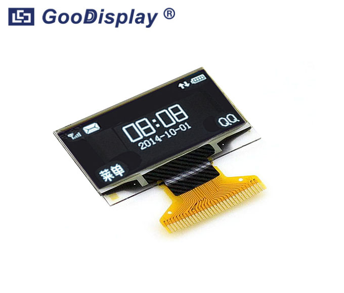 1.29 inch OLED display panel wide temperature, GDON0129RGW