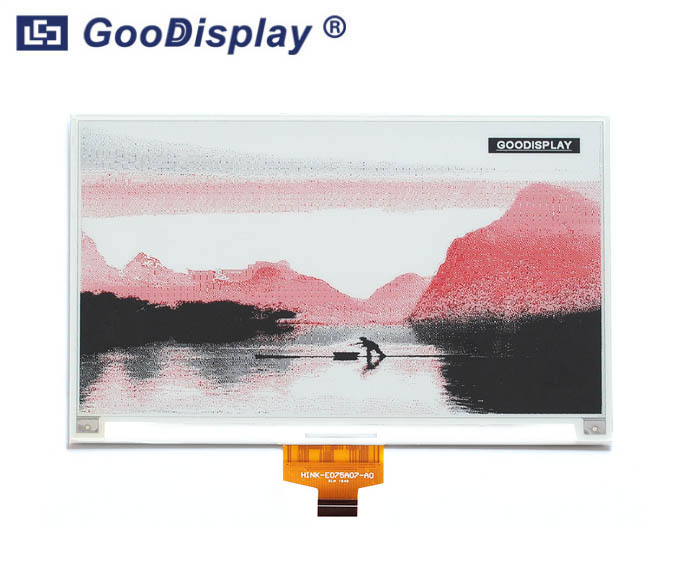 7.5 inch colorful red e-paper display 880x528 resolution large screen, GDEH075Z90