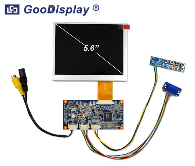 5.6 inch VGA Video signal input AD board TFT display, GDN-D567AT-GTI056TN52