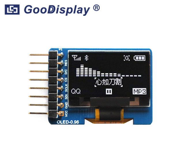 0.96 inch OLED display module with adapter board, wide temperature