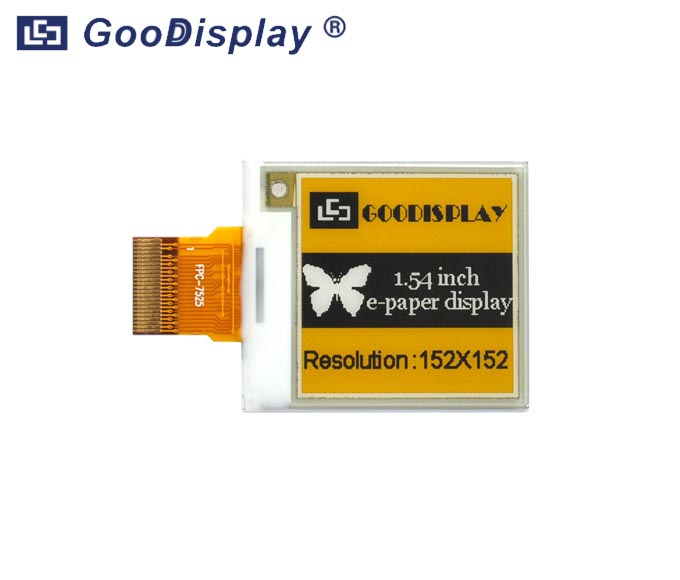1.54 inch Yellow e-paper display three colors, GDEM0154C90