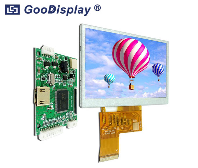 4.3 inch Raspberry Pi TFT LCD Display HDMI Driver Board GDTE043A1-4