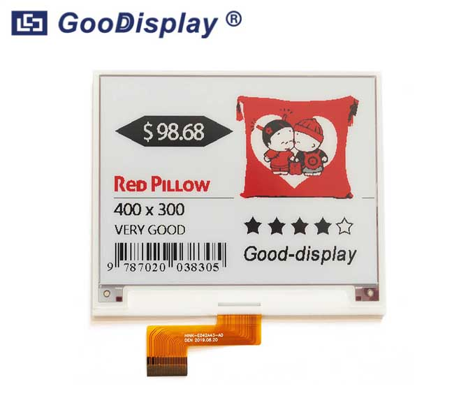 4.2 inch red e-paper display color electronic paper screen module, GDEH042Z21