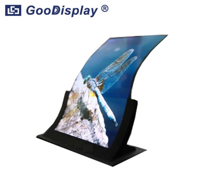 55 inch Large size open curved surface signage 3D colorful OLED display GDOB5500CB