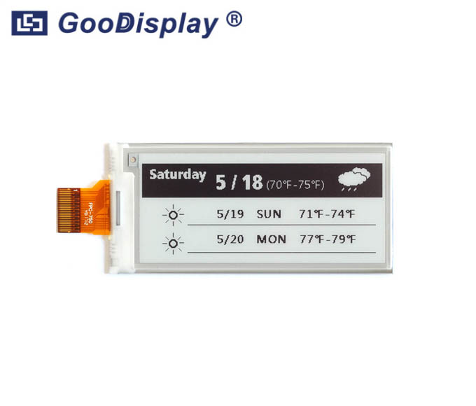 2.9 inch partial refresh e-paper display temperature sensing, GDEM029E97