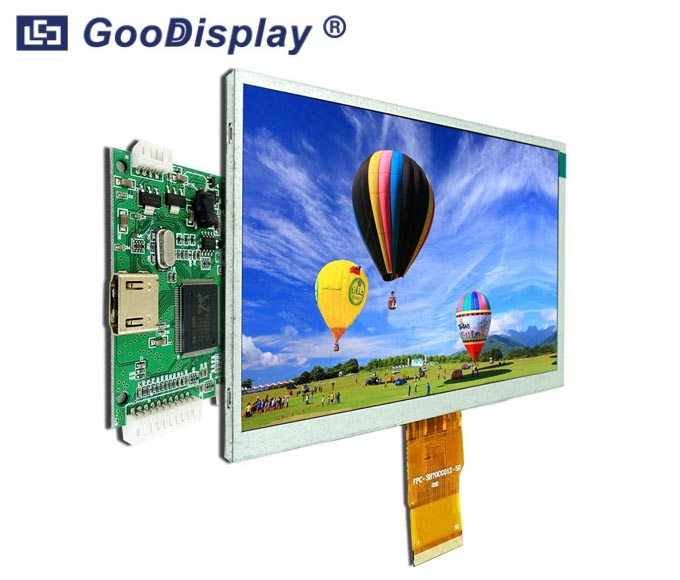 7.0 inch TFT LCD Display Module HDMI 1024x600 dots, Raspberry Pi, GDTE070A1-6