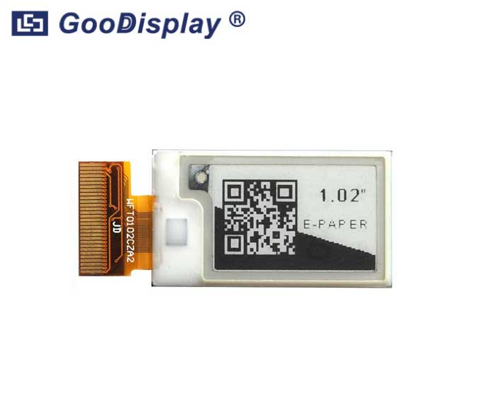 1.02 inch mini partial refresh e-ink display, GDEW0102T4