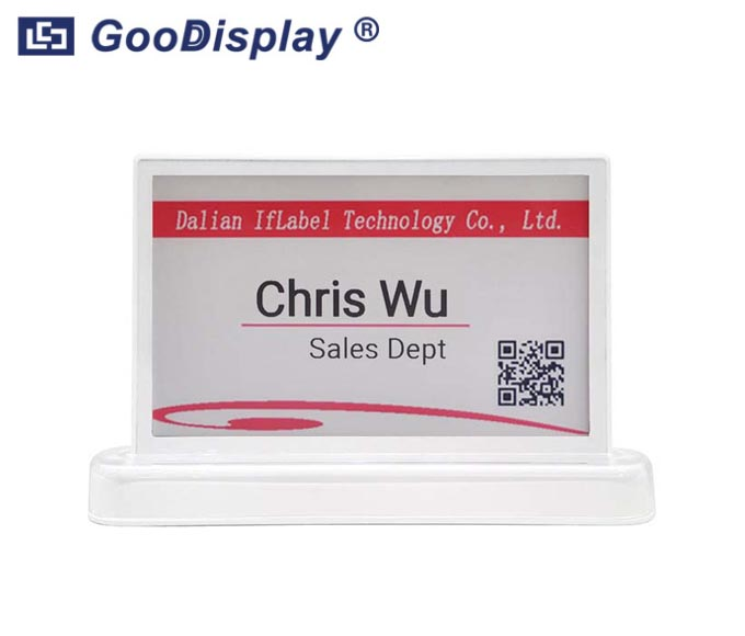 7.5 inch double sided E-nameplate meeting intelligent wireless, GDIF075B