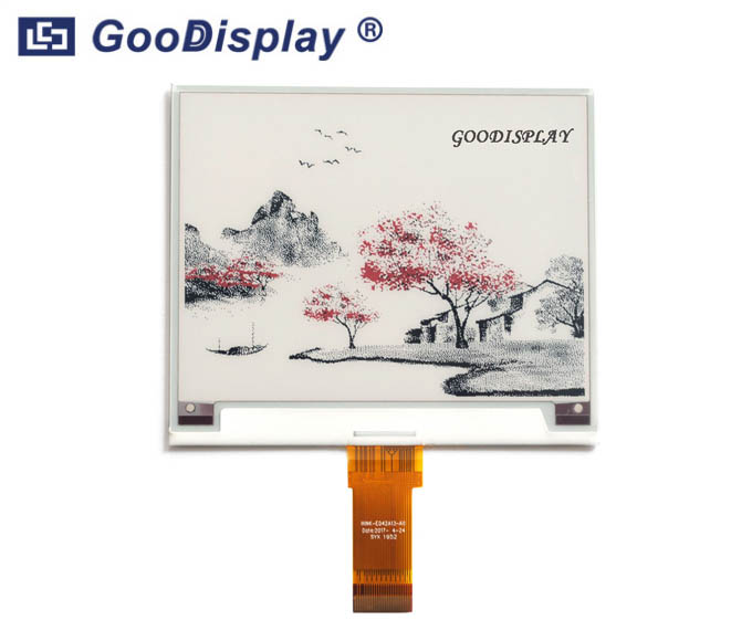 4.2 inch three colors e-paper display red electronic paper screen module, GDEH042Z96