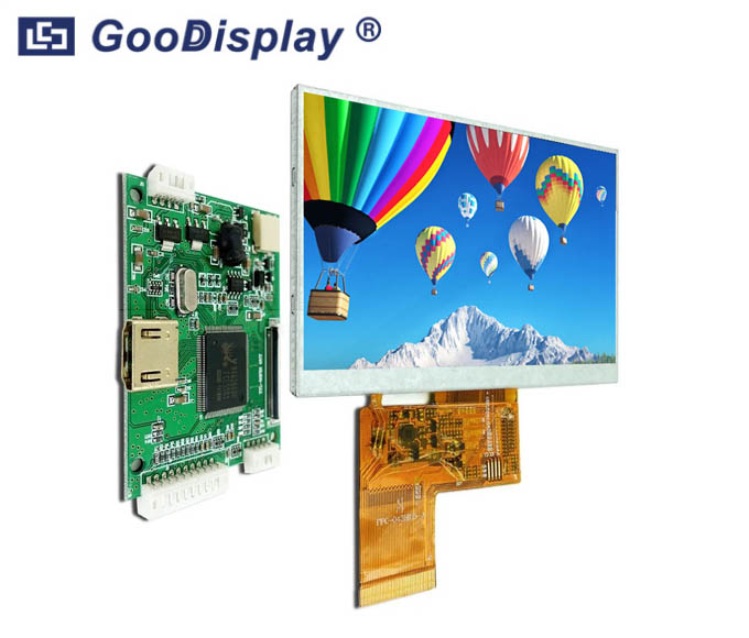 4.3 inch 800x480 Resolution Raspberry Pi TFT LCD Display HDMI GDTE043A1-7