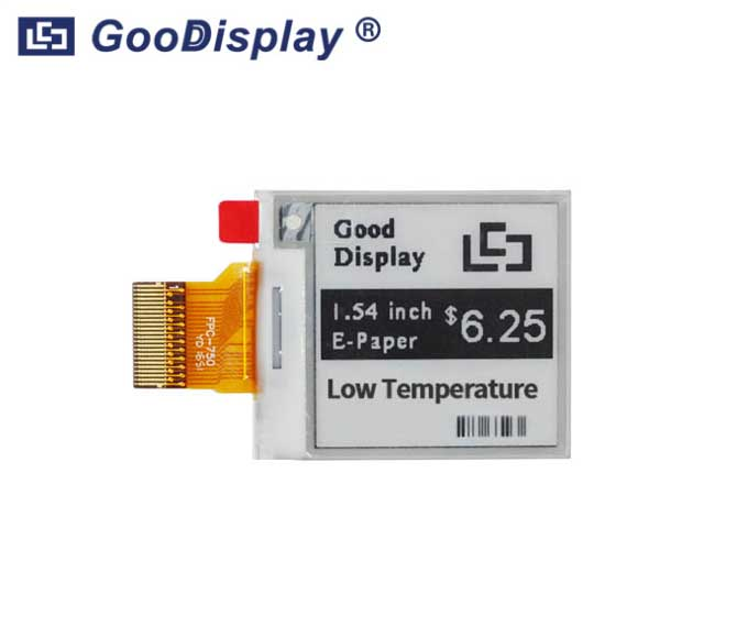 1.54 inch e-paper display ultra low temperature E ink, GDEM0154E97LT