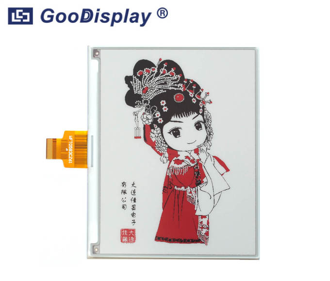 5.83 inch high resolution red e-paper display three colors, GDEW0583Z83