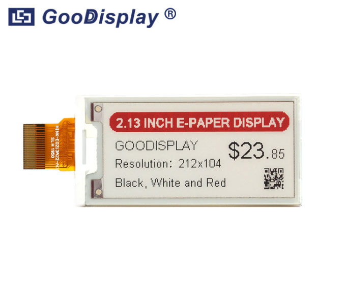2.13 inch black white and red e-paper display three colors, GDEH0213Z98