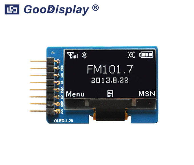 1.29 inch OLED display module with adapter board, wide temperature