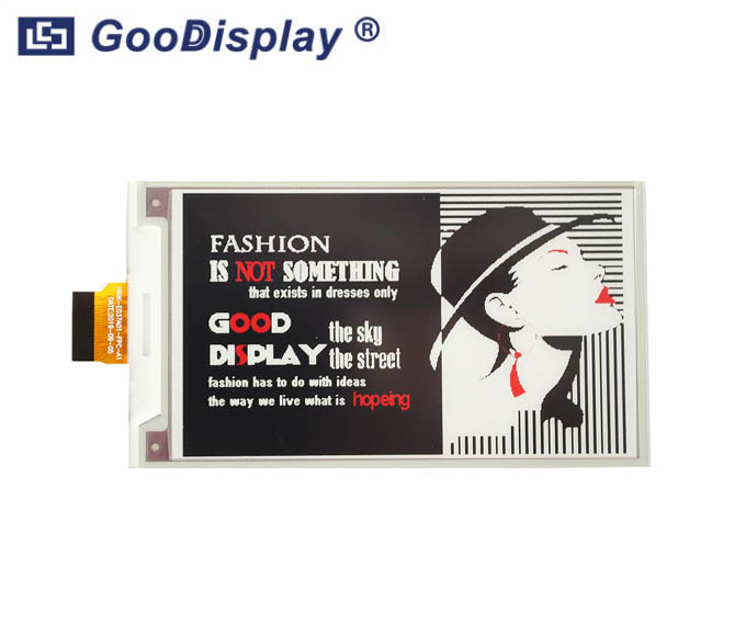 3.71 inch color e-ink display red e-paper screen module, GDEH037Z01